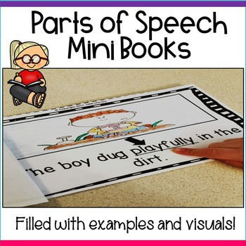 Parts of Speech mini books! 2 books to teach students the eight parts of speech!