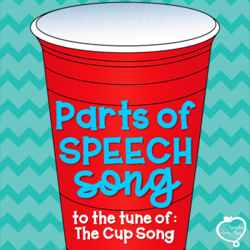 """Parts of Speech Song to the Tune of """"The Cup Song"""""""