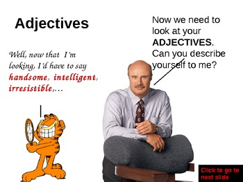 Parts of Speech with Dr. Phil & Garfield