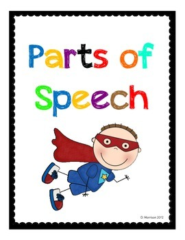 Parts of Speech with a Superhero Theme!