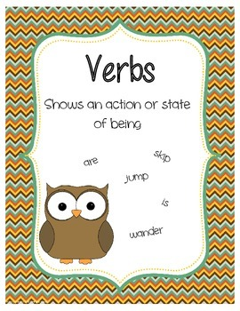 Parts of Speech with an Owl Theme