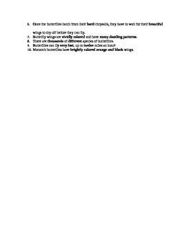 Parts of Speech/Grammar Worksheet: Adjectives