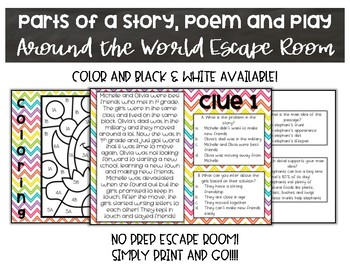 Parts of Stories, Dramas and Poems Escape Room