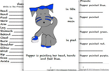 Parts of The Body in French with Pepper