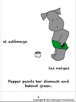 Parts of The Body in Spanish with Pepper