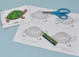 Parts of Turtle Coloring Set with Control Cards