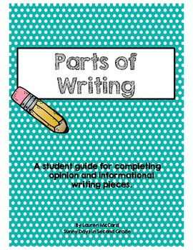 Parts of Writing Cheat Sheet