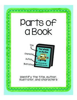 The parts of a book poster and worksheet by jennifer trooien tpt the parts of a book poster and worksheet ibookread ePUb