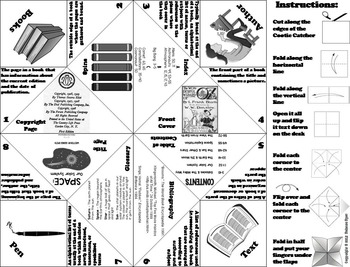 Parts of a Book Foldable 5th 4th 3rd Grade Reading Comprehension
