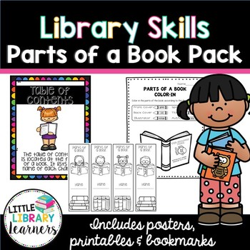 Library Skills- Parts of a Book Pack