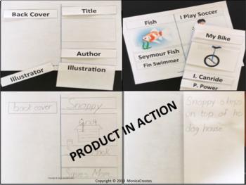 Kindergarten 1st Grade Parts of a Book Activity