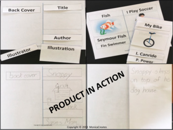 Parts of a Book Activity - Kindergarten and 1st Grade