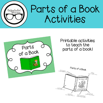 Parts of a Book Activities