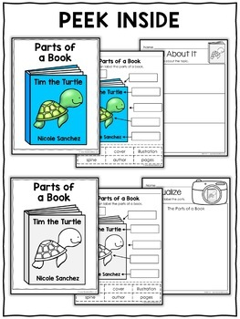 Vocabulary Activity - Parts of a Book