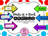 Parts of a Book Arrows Labels