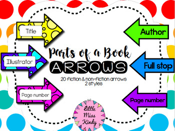 Parts of a Book Arrows Labels