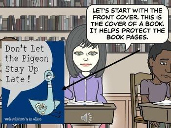 Parts of a Book-Comic Strip Video