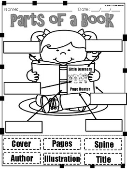 Parts of a Book | Concept of Print Activities