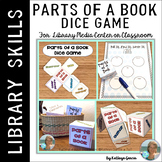 Parts of a Book Dice Game for the Classroom or Library