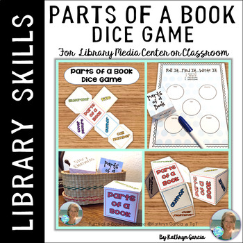 Parts of a Book Dice Game