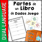SPANISH: Parts of a Book Dice Game for Classroom or School Library Media Center