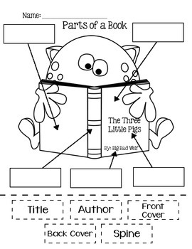 Parts of a Book FREEBIE