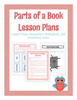 Parts of a Book Lesson Plans