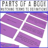 Parts of a Book Center - Matching Terms to Definitions - L