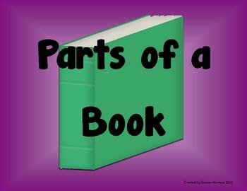 Parts of a Book Poster Set