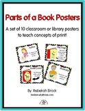 Parts of a Book Posters:  13 Posters to Teach Concepts of Print