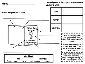 Parts of a Book {Printable}