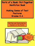 Parts of a Book: Put-Together Nonfiction Book Making Sense