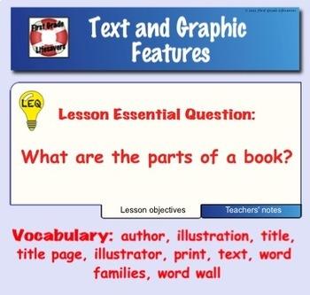 Parts of a Book SMARTboard Lesson