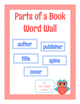 Parts of a Book Word Wall