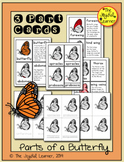 Parts of a Butterfly 3-Part Cards, Book Making Masters, an