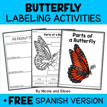 Parts of a Monarch Butterfly Activity