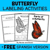 Parts of a Monarch Butterfly Activities