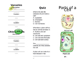 Parts of a Cell Booklet (Plants and Animals)