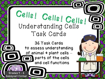 Parts of a Cell Task Cards