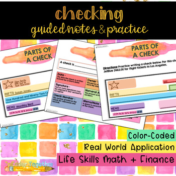 Parts of a Check: Guided Notes & Practice