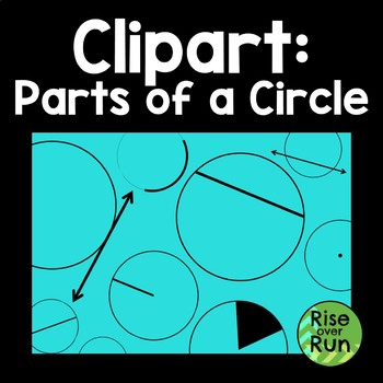 Parts of a Circle Clipart for Commercial Use
