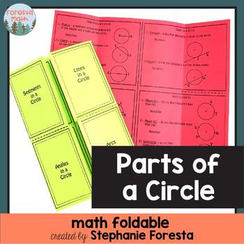 Parts of a Circle Foldable