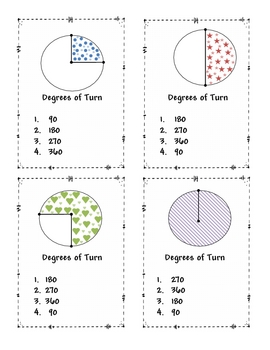 Parts of a Circle Game Cards