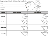 Segment and Angle Relationships in Circles