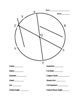 Parts of a Circle WS 2