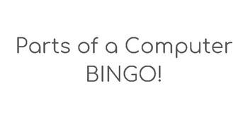 Parts of a Computer BINGO