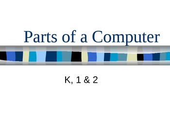 Parts of a Computer PPT with Worksheet