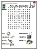 Parts of a Computer Word Search Puzzle
