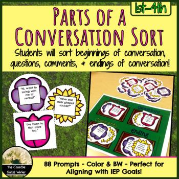 Parts of a Conversation Sort Activity