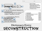 Parts of a Dictionary Entry